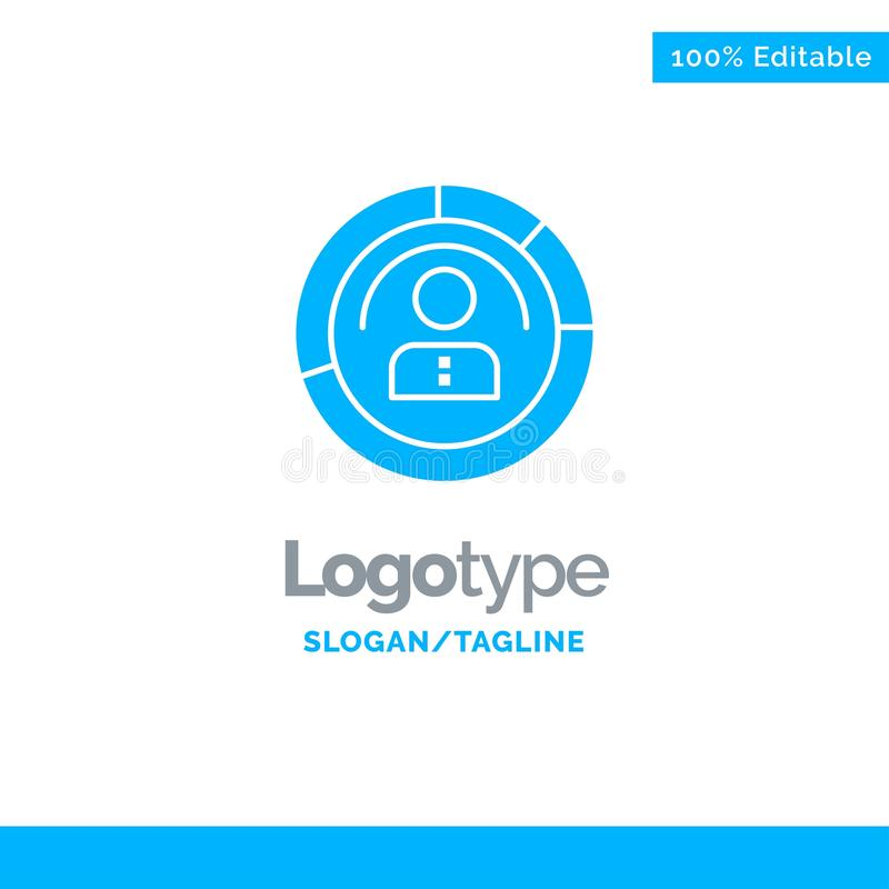 Diagram, Features, Human, People, Personal, Profile, User Blue Solid Logo Template. Place for Tagline vector illustration