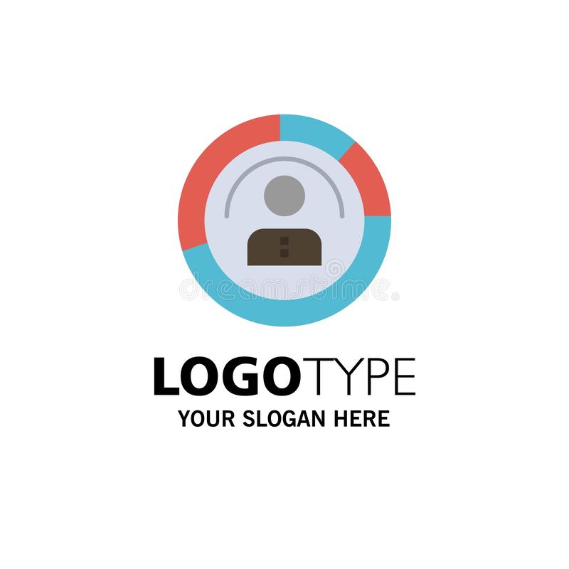 Diagram, Features, Human, People, Personal, Profile, User Business Logo Template. Flat Color vector illustration