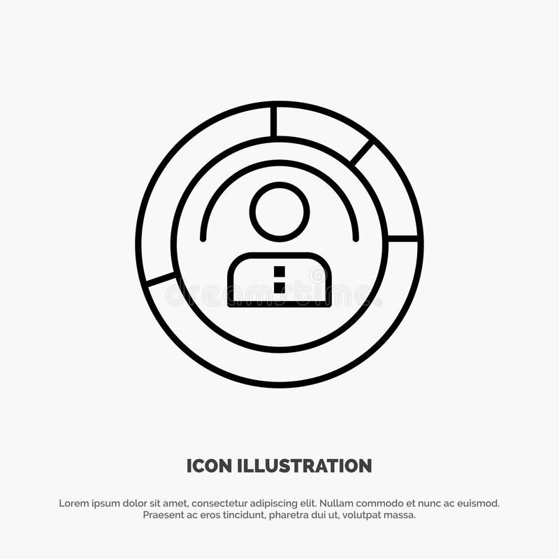 Diagram, Features, Human, People, Personal, Profile, User Line Icon Vector stock illustration