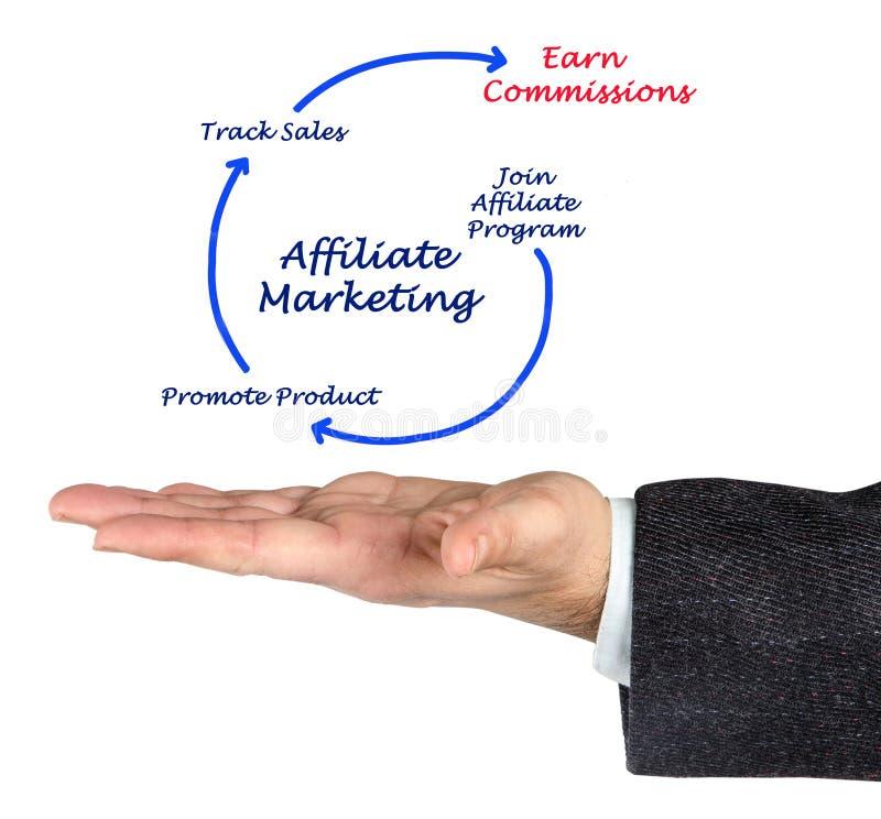 diagram filia marketing obraz stock