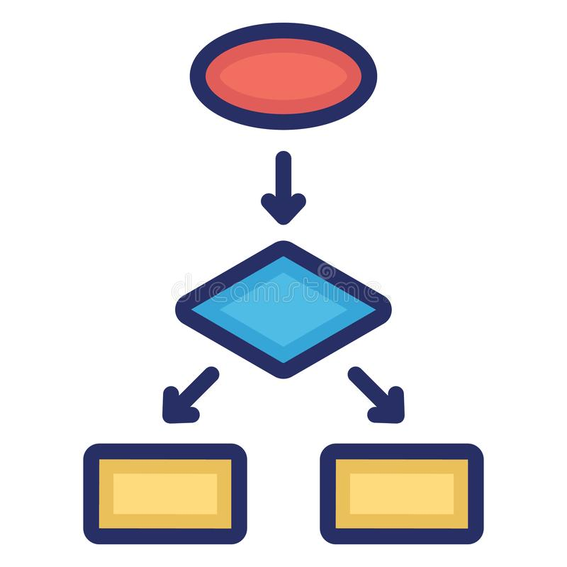 Diagram, flowchart Isolated Vector Icon Which can easily modify or edit vector illustration