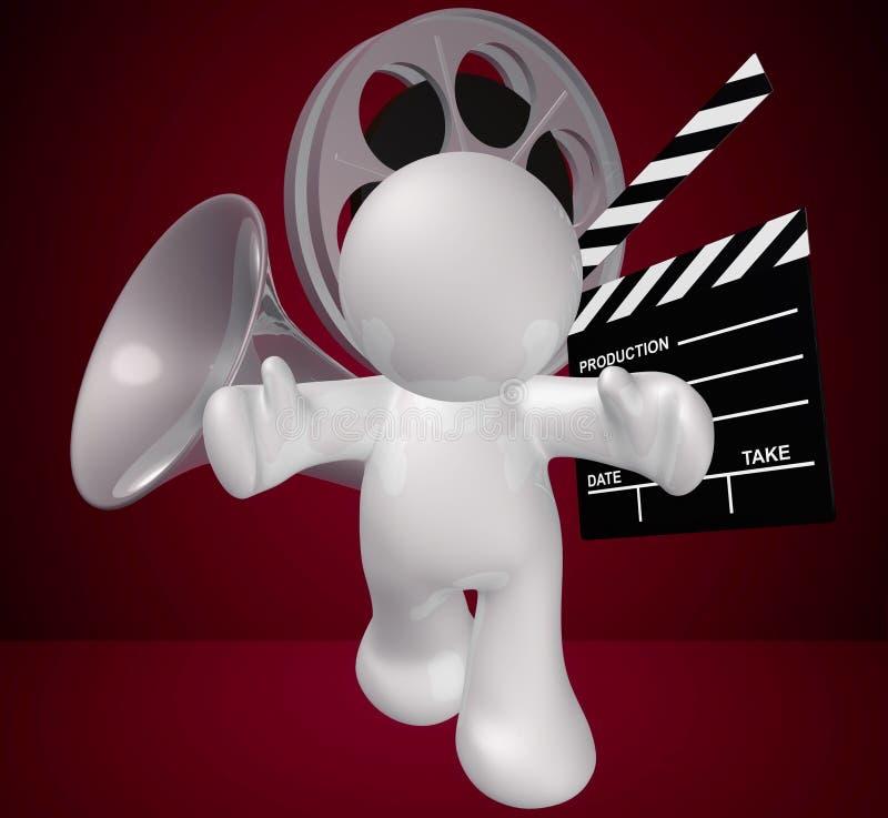 diagram grabbsymbol som gör filmobjekt royaltyfri illustrationer