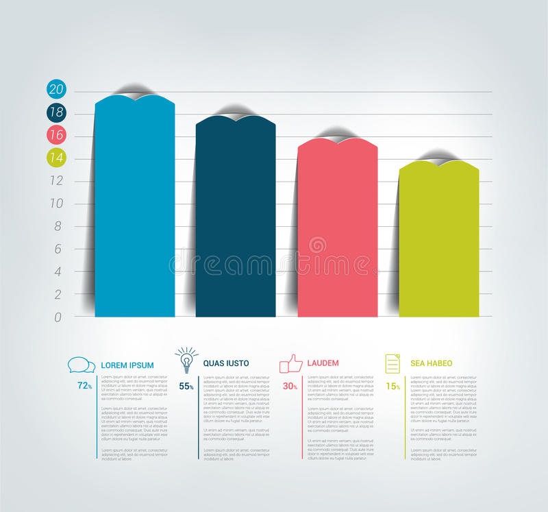 Diagram graf Infographics stock illustrationer