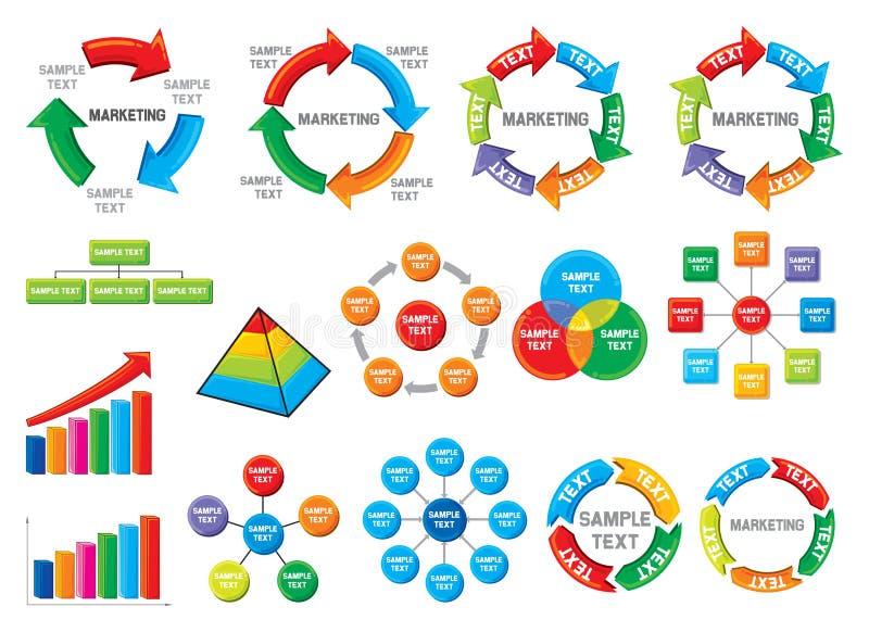 Diagram graficzna biznesowa kolekcja royalty ilustracja