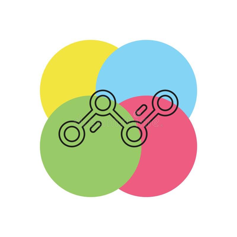 Diagram Graphs vector icon. Simple Diagram Graphs. Thin line pictogram - outline stroke stock illustration