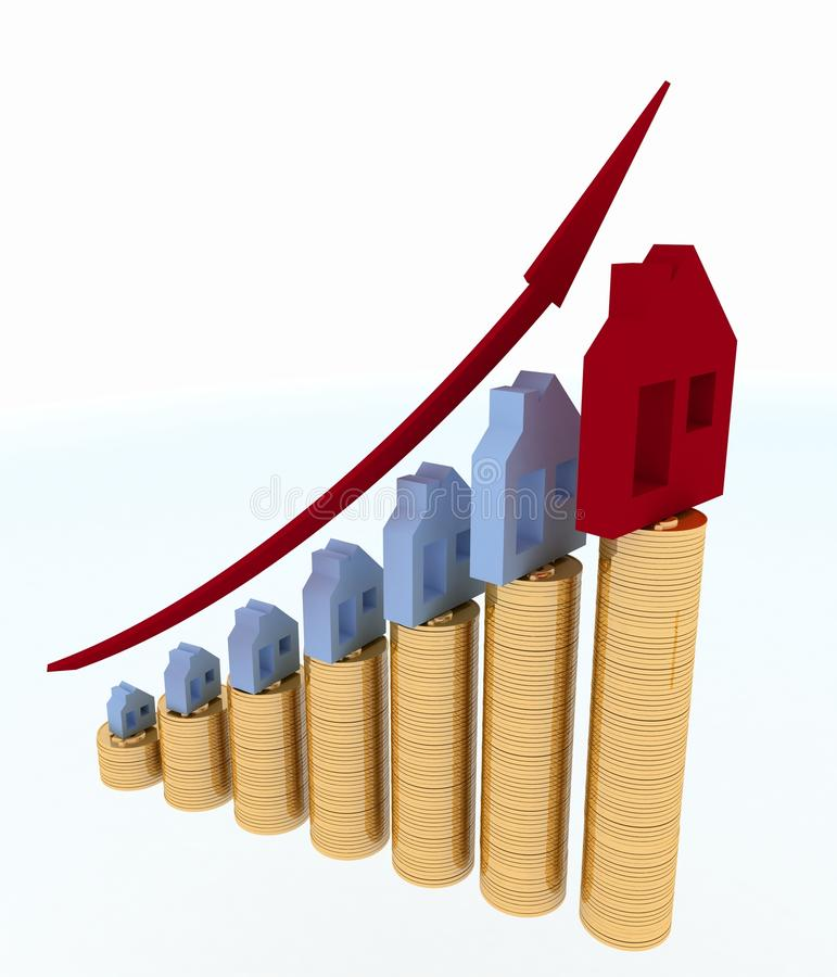 Download Diagram Of Growth In Real Estate Prices Stock Illustration - Image: 32955484