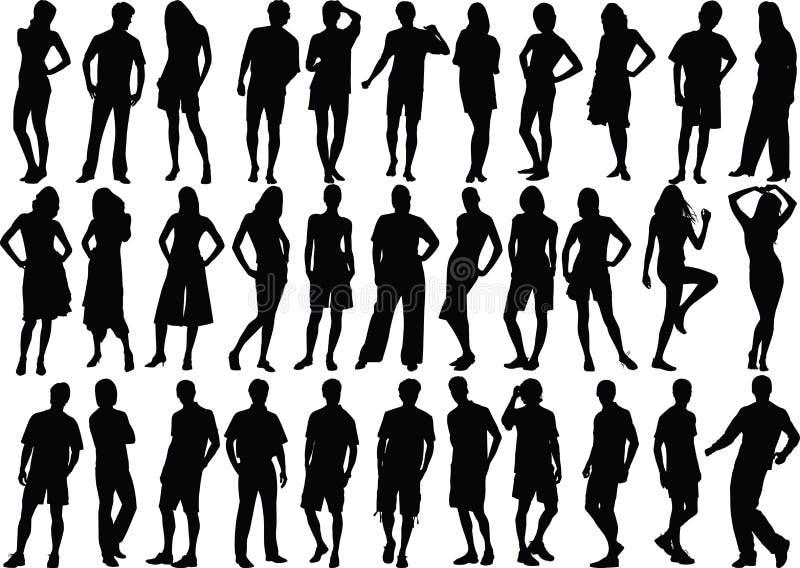 diagram hög mänsklig kvalitet stock illustrationer