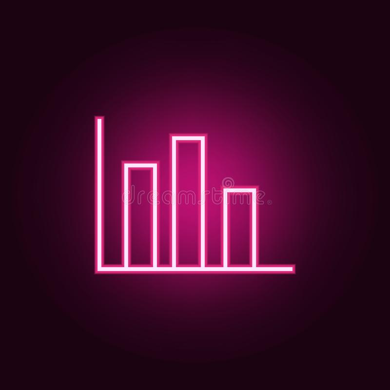 diagram icon. Elements of Web in neon style icons. Simple icon for websites, web design, mobile app, info graphics stock illustration