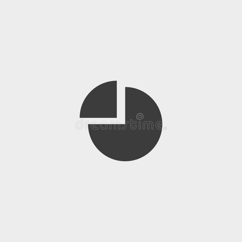 Diagram Icon in a flat design in black color. Vector illustration eps10 royalty free illustration