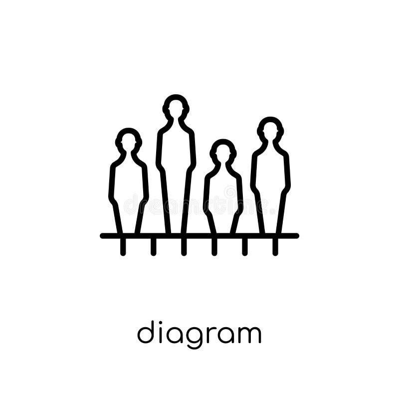 Diagram icon. Trendy modern flat linear vector Diagram icon on w royalty free illustration