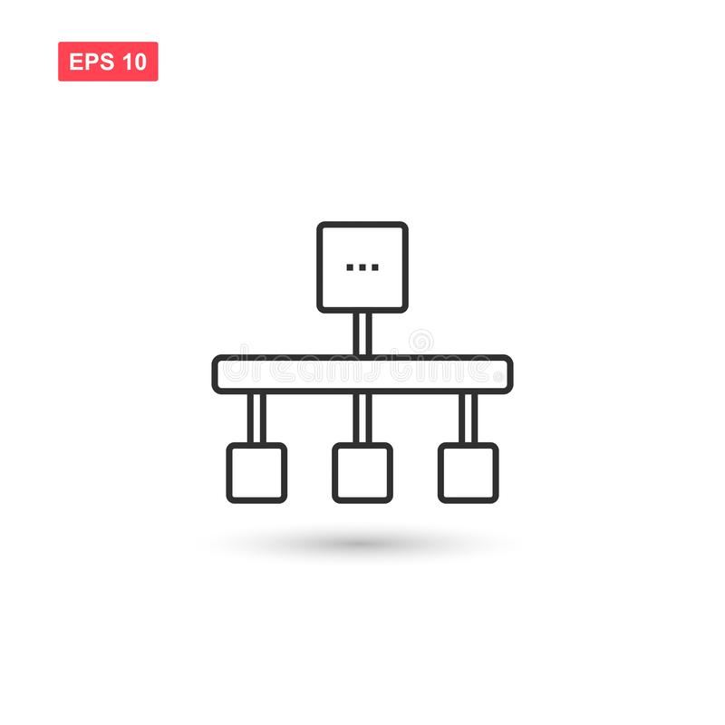 Diagram icon vector design isolated 2. Eps10 stock illustration