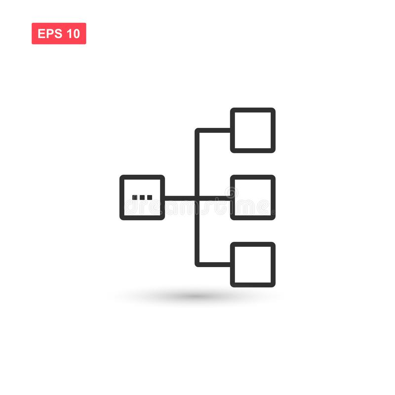 Diagram icon vector design isolated 4 stock illustration