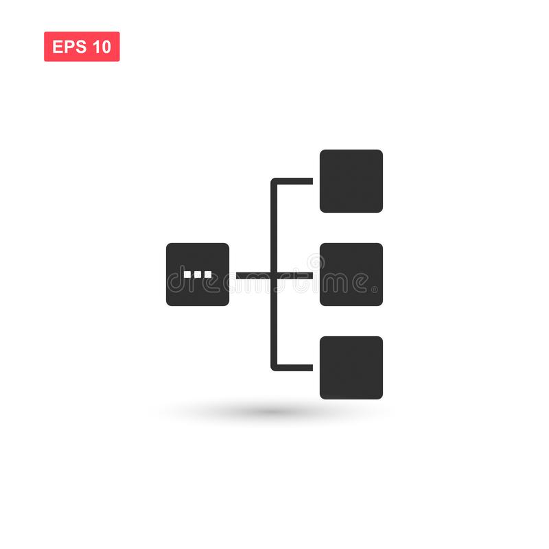 Diagram icon vector design isolated 3. Eps10 stock illustration