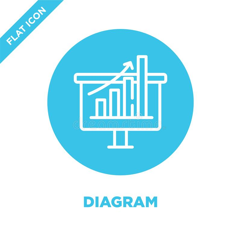 diagram icon vector. Thin line diagram outline icon vector illustration.diagram symbol for use on web and mobile apps, logo, print royalty free illustration