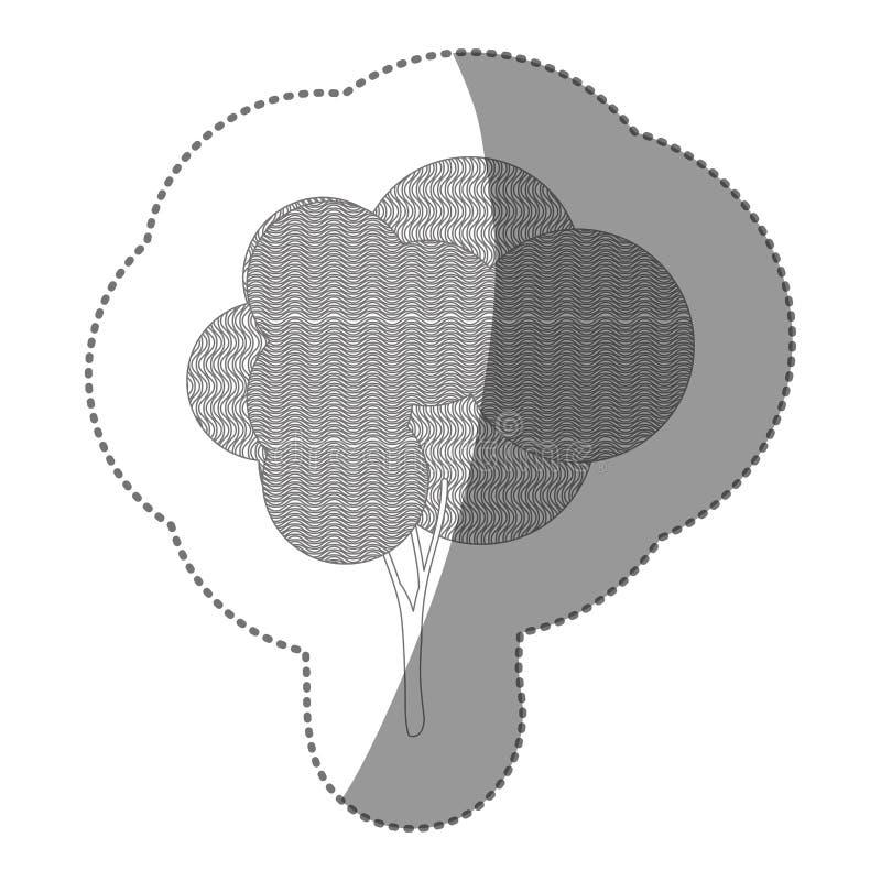 diagram idérik trädsymbol för stämpel royaltyfri illustrationer
