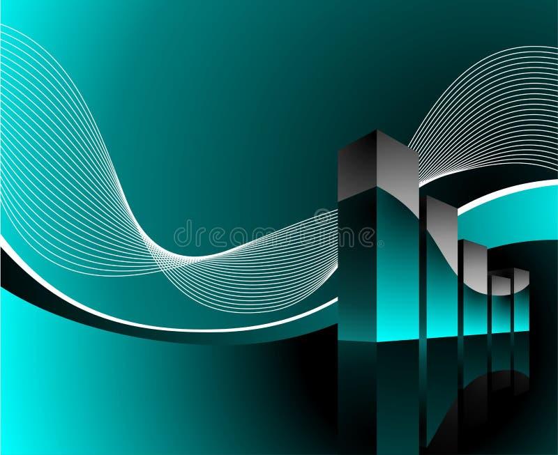 Diagram illustration with wave on dark background. Vector diagram illustration with wave on dark background stock illustration