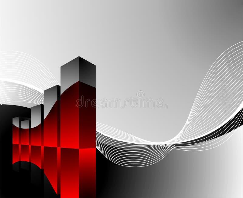 Diagram illustration with wave on dark background. Vector diagram illustration with wave on dark background vector illustration