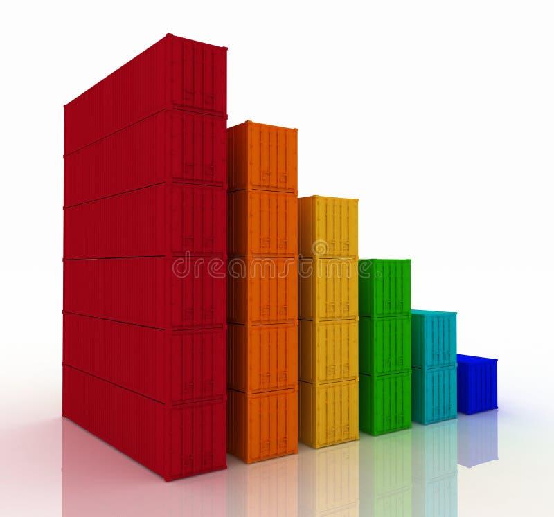 Download Diagram Of Increasing Exportation Stock Illustration - Illustration of column, business: 24494518