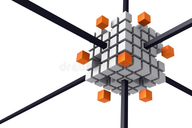 diagram la technologie de connexion illustration stock
