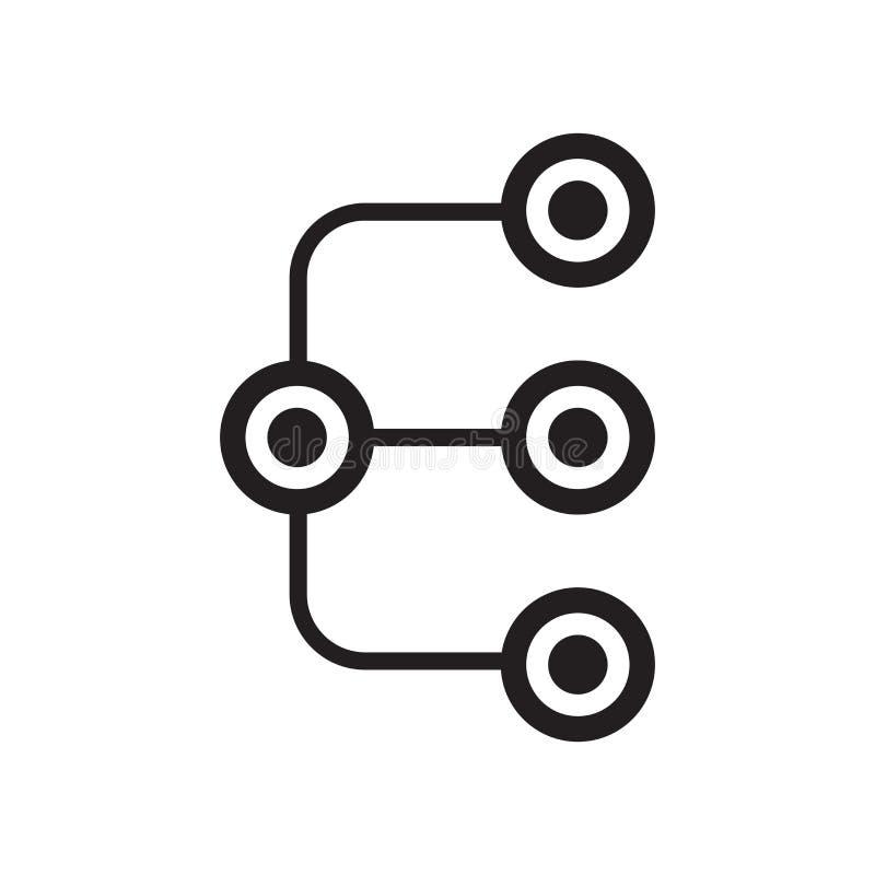 Diagram le signe et le symbole de vecteur d'icône d'isolement sur le fond blanc illustration de vecteur
