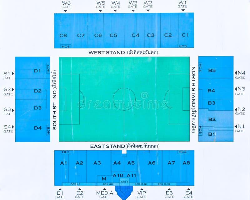 Diagram lo stadio di football americano immagine stock libera da diritti