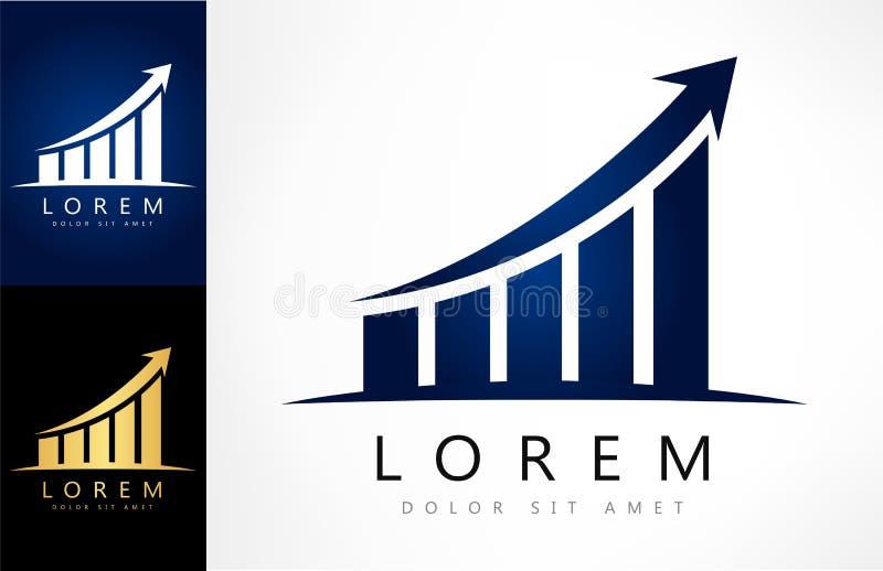 Diagram logo vector. Logo design vector illustration stock illustration