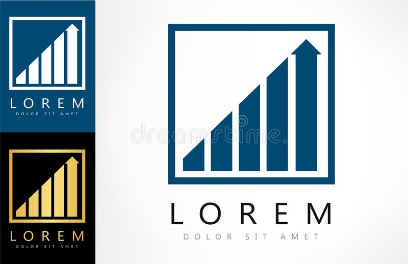 Diagram logo vector. Logo design vector illustration royalty free illustration