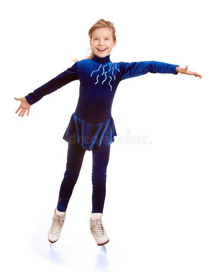 diagram lyckligt åka skridskor barn för flicka fotografering för bildbyråer