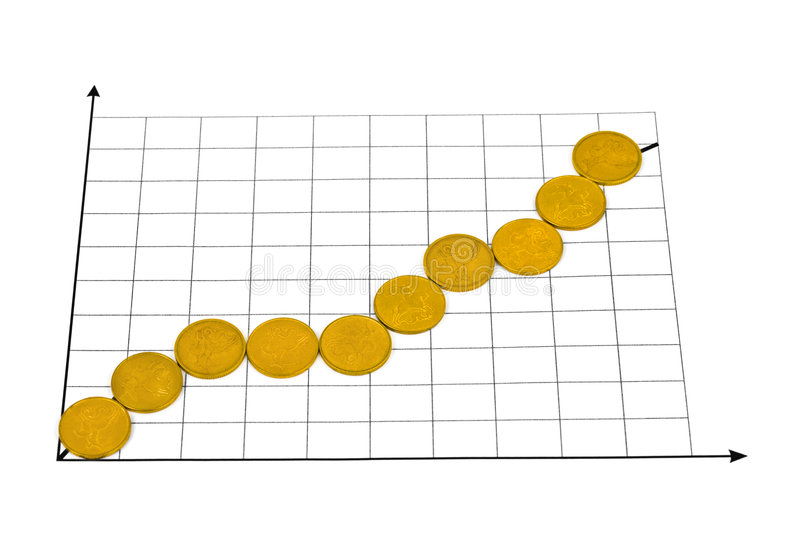 Download Diagram made of coins stock image. Image of luck, earn - 9066673