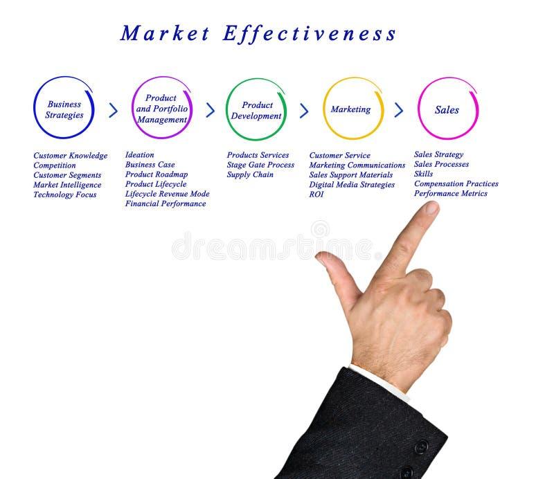 Diagram of Market Effectiveness. Presenting Diagram of Market Effectiveness stock images