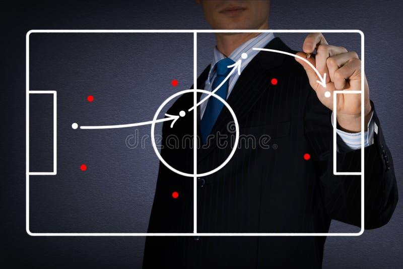 Diagram mecz futbolowy zdjęcie royalty free
