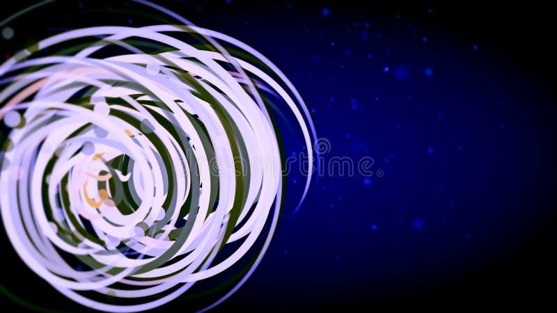Diagram med kulör spiral på blå bakgrund royaltyfri illustrationer