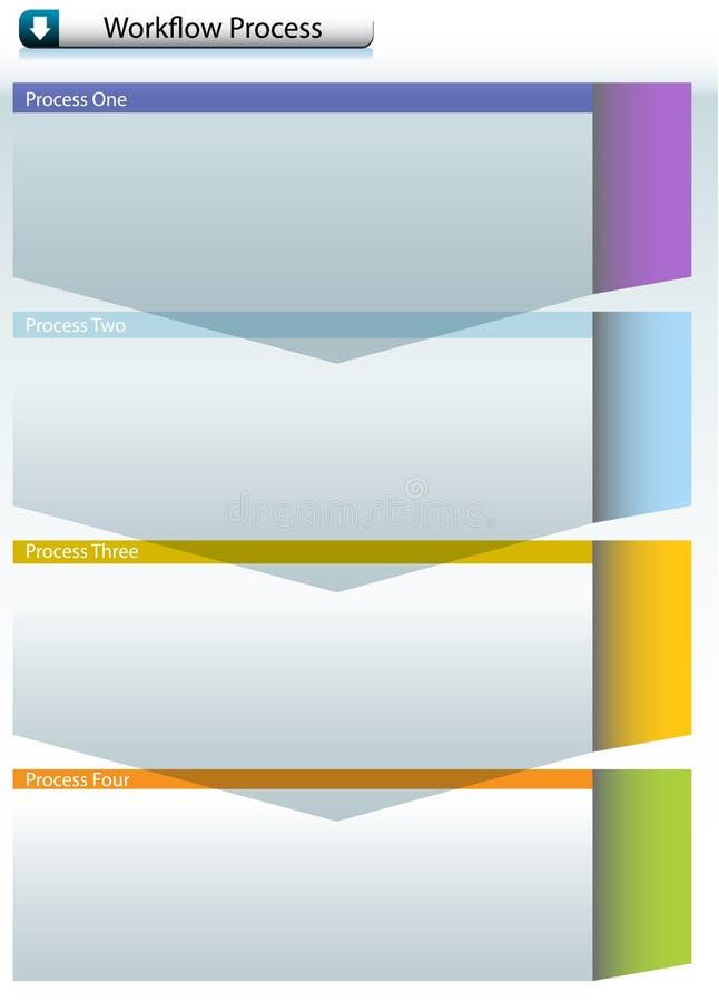 diagram ner stock illustrationer