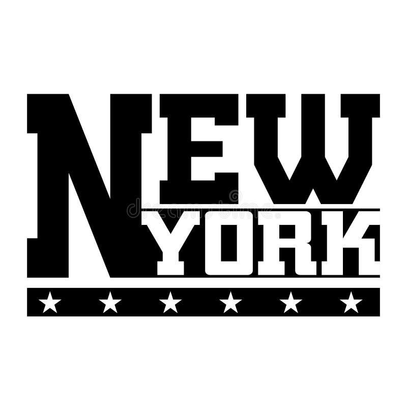 Diagram New York för T-skjortatypografi royaltyfri illustrationer