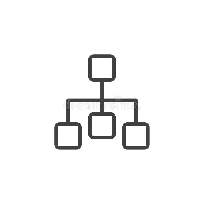 Diagram outline icon vector illustration