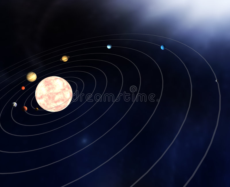 Diagram Of The Planets In The Stock Illustration Illustration Of