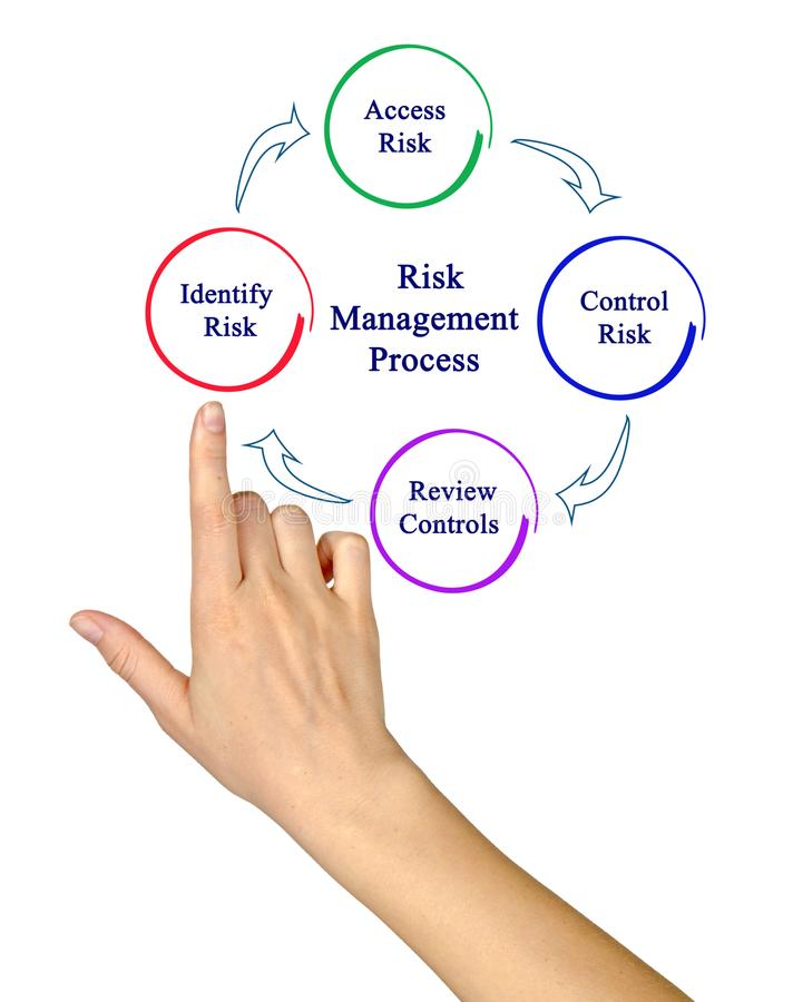 Diagram Of Risk Management Process Stock Photo Image Of Female