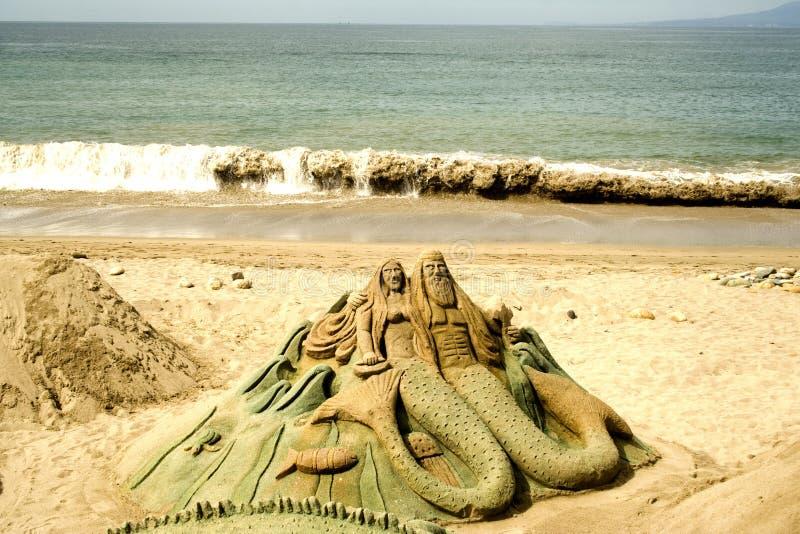 diagram sand sculpted royaltyfria bilder