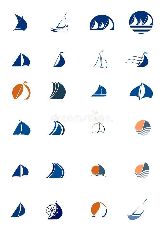diagram seglar vektor illustrationer