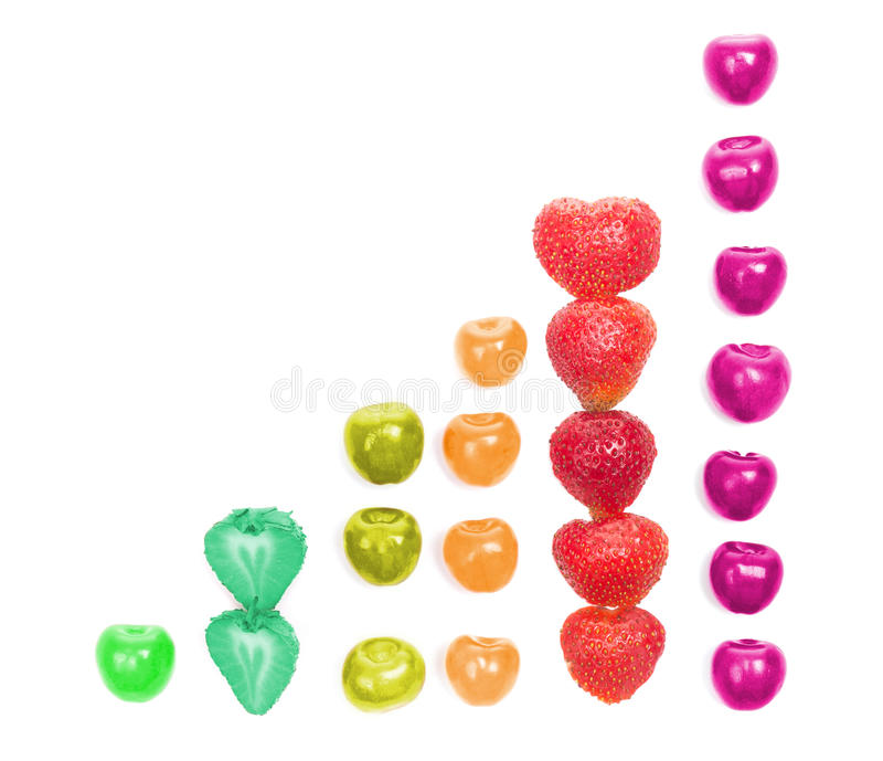 Download Diagram Shaped From Cherries And Strawberries Stock Image - Image: 25627531
