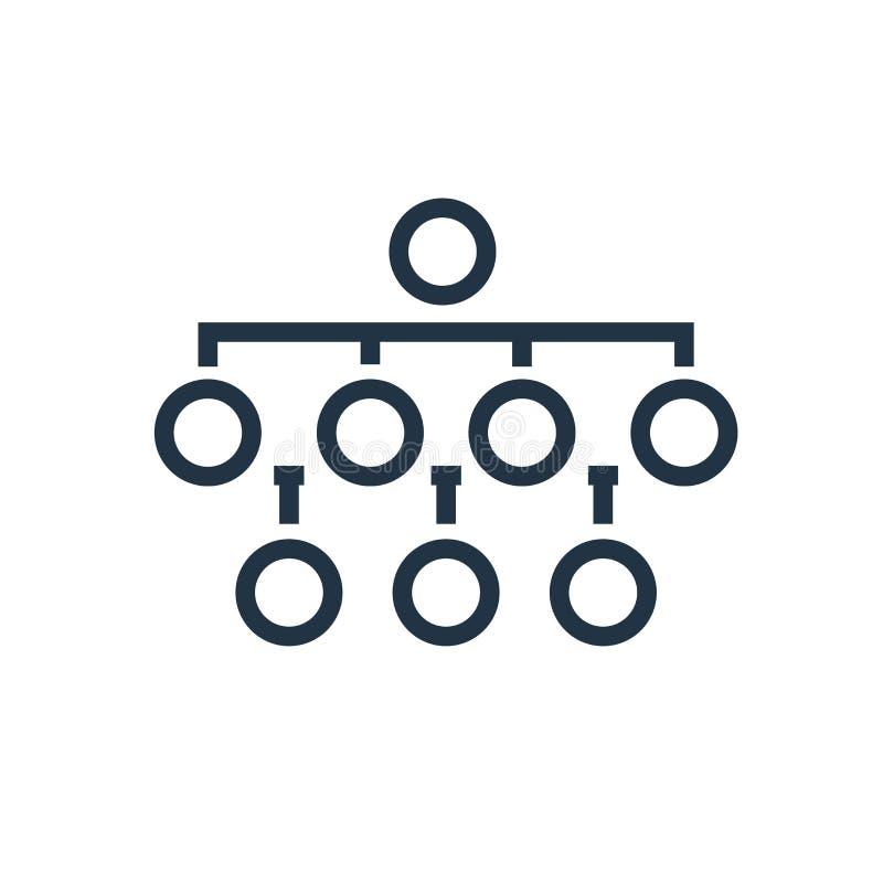 Diagram symbolsvektorn som isoleras på vit bakgrund, diagramtecken stock illustrationer
