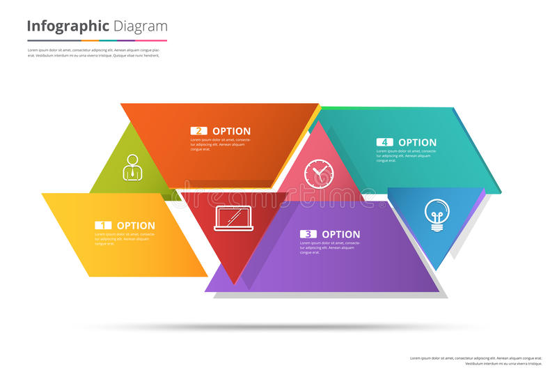 Diagram Template, Organization chart template. flow template, bl. Ank diagram for replace text, white color, Circle diagram, vector stock design vector illustration