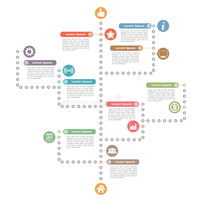 Diagram Template royalty free illustration