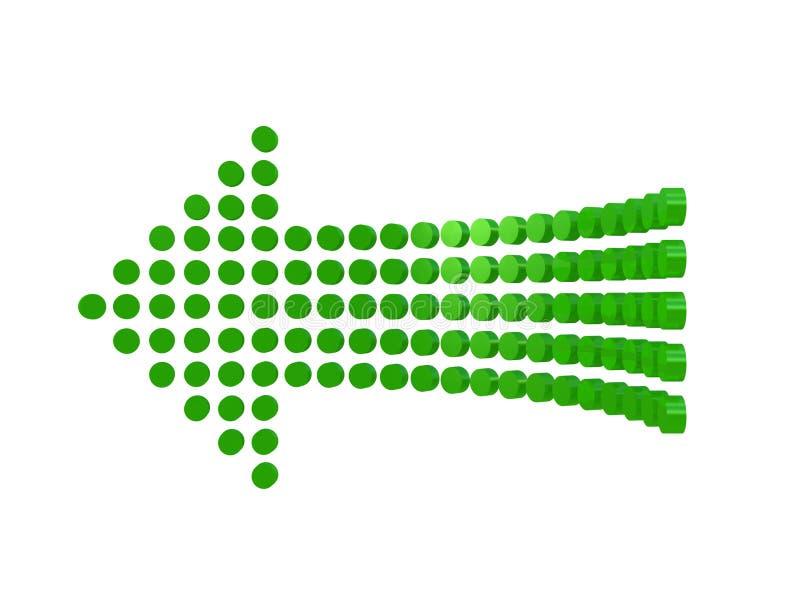 Diagram une flèche d'isolement sur le fond blanc illustration de vecteur