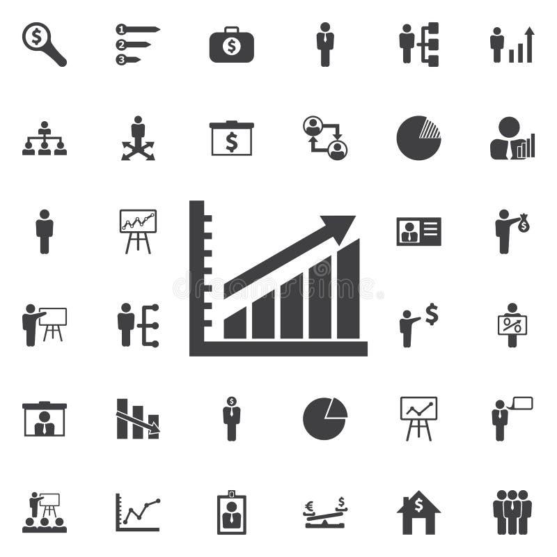 Diagram up icon. Business icons set stock illustration