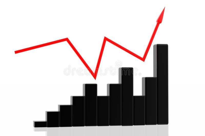 Diagram van bedrijfssucces royalty-vrije stock foto's