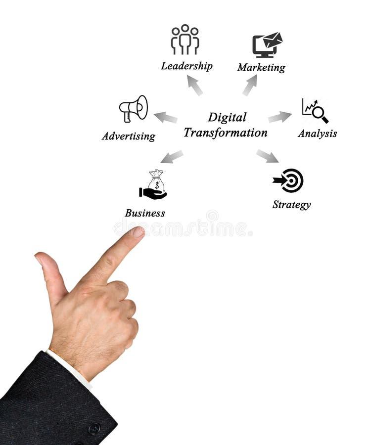 Diagram van Digitale Transformatie royalty-vrije stock afbeeldingen