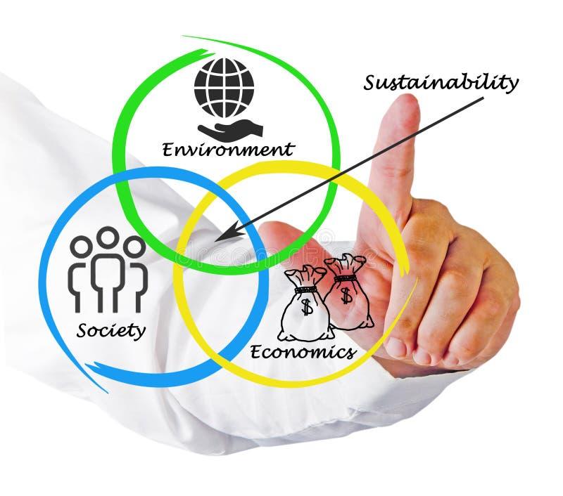Diagram van duurzaamheid stock foto's