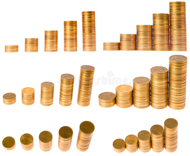 Diagram van muntstukkolom royalty-vrije stock foto