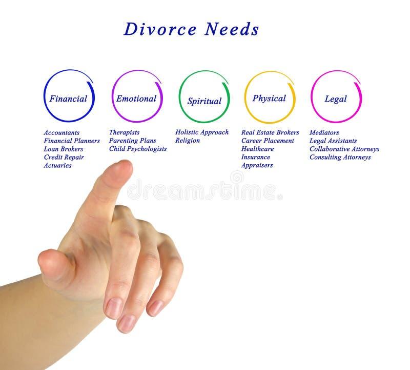 Diagram van Scheidingsbehoeften stock fotografie
